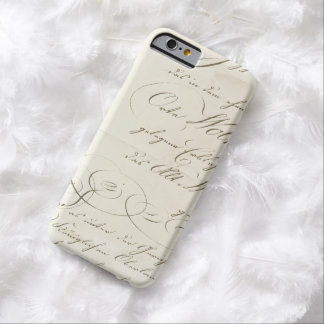 Vintage Fancy Manuscript op Perkament Barely There iPhone 6 Hoesje