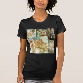 Vintage Feeën en Meerminnen T Shirt