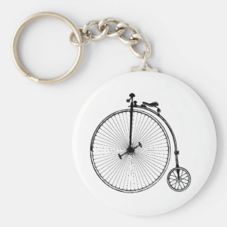 Vintage Fiets Basic Ronde Button Sleutelhanger