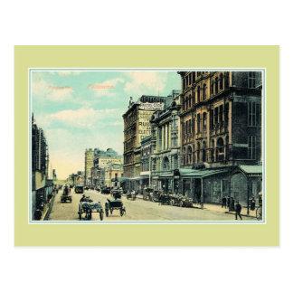 Vintage Flinders Straat Melbourne Australië Briefkaart