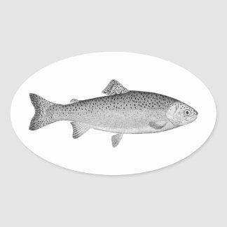 Vintage Forel Ovale Sticker