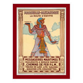 Vintage Frankrijk aan het Poster van de Reis van Briefkaart