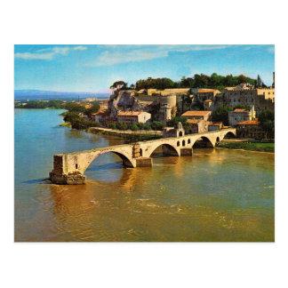 Vintage Frankrijk, Avignon; gebroken brug Briefkaart