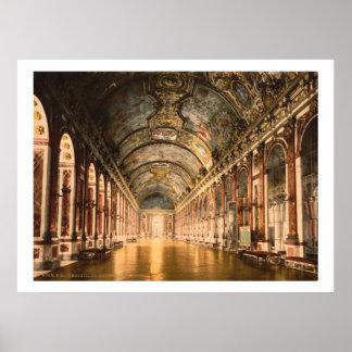 Vintage Frankrijk, Galerij van Spiegels Versailles Poster