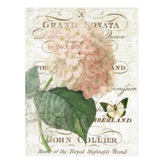Vintage Frans Botanisch hydrangea Briefkaart