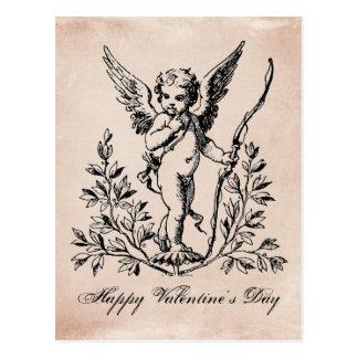 Vintage Frans de cherubijnbriefkaart van Valentijn Briefkaart