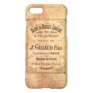 Vintage Frans schoonheidsetiket iPhone 7 Hoesje
