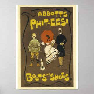 Vintage Franse Adverterene phit-T - shirts Abbots Poster