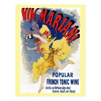 Vintage Franse het aperitiefadvertentie van de Briefkaart