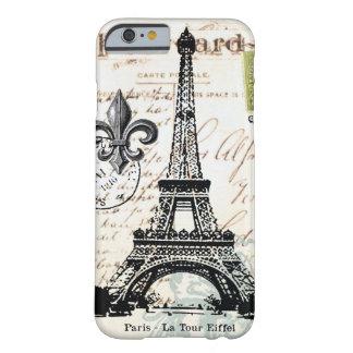 Vintage Franse iPhone 6 van de Toren van Eiffel ho Barely There iPhone 6 Hoesje