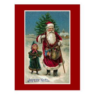 """Vintage Franse Kerstmis van """"Joyeux Noel"""" Briefkaart"""