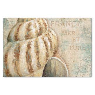 Vintage Franse Kroonslak Shell 25,4 X 38,1 Cm Tissue Papier