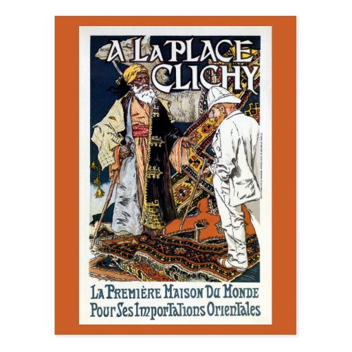 Vintage Franse Oosterse van de Bedrijfs invoer adv Wenskaart