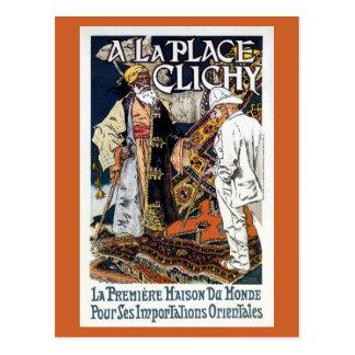 Vintage Franse Oosterse van de Bedrijfs invoer Wenskaart