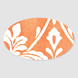 Vintage Franse TextielArabesques Ovale Sticker