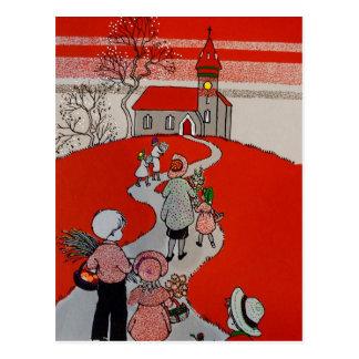 Vintage Gang aan Kerk Briefkaart