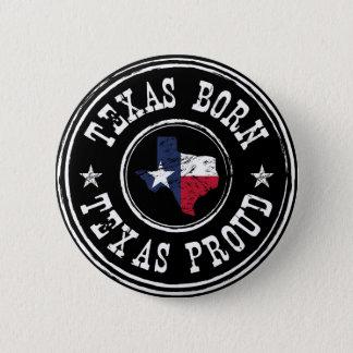 Vintage geboren Texas - trots Texas Ronde Button 5,7 Cm