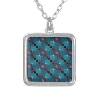 Vintage Geometrisch patroon Zilver Vergulden Ketting
