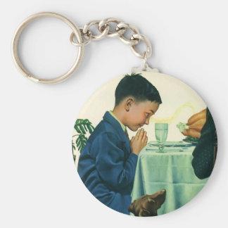 Vintage Godsdienst, de Gunst van het Spreuk van de Basic Ronde Button Sleutelhanger