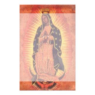 Vintage Godsdienst, Maagdelijke Mary, Dame van Briefpapier