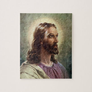 Vintage Godsdienstig Portret, Jesus-Christus met Puzzel