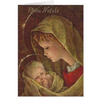 Vintage Godsdienstige Italiaanse Kerstkaart Kaart
