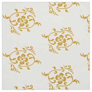 Vintage Gouden Bloemen Stof