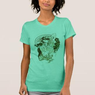 Vintage groene godin t shirt