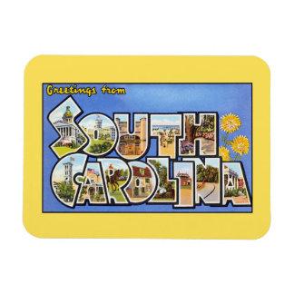 Vintage groeten van Zuid-Carolina Magneet