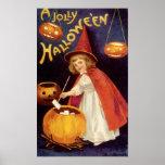Vintage Halloween, de Pompoenen van de Lantaarns v Plaat