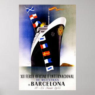 Vintage Handelsbeurs in het Poster van Barcelona