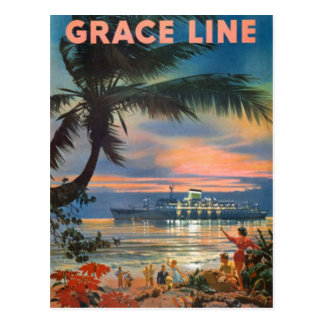Vintage Hawaï, de V.S. - Briefkaart