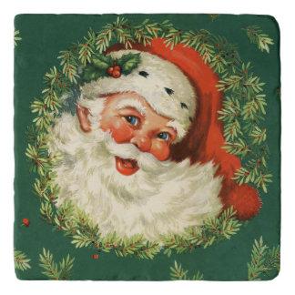 Vintage heel Kerstman Trivet