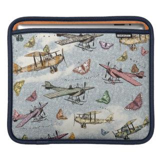 Vintage Hemel - Vliegtuigen en Vlinders Sleeve Voor iPad