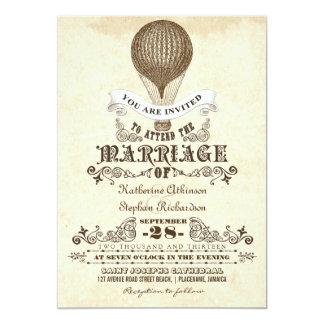 vintage het huwelijksuitnodigingen van de hete 12,7x17,8 uitnodiging kaart