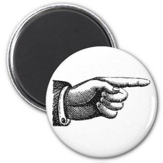 vintage het richten vingermagneet, inwijdingsfeest magneet