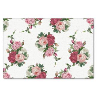 Vintage het roos-Wit van de Kool Achtergrond Tissuepapier
