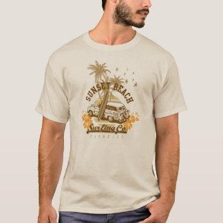 Vintage het Surfen van het Strand van de T Shirt