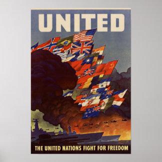 Vintage het Wereldoorlog II Verenigde Poster van V