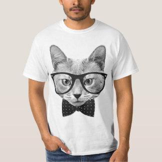 Vintage hipsterkat t shirt