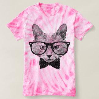 Vintage hipsterkat t shirts