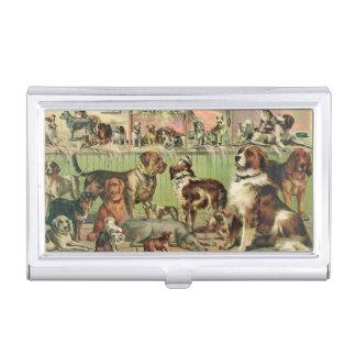 Vintage Honden Visitekaarthouder