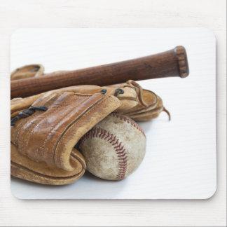 Vintage Honkbal en Knuppel Muismat