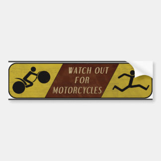 Vintage Horloge uit voor Motorfietsen Bumpersticker