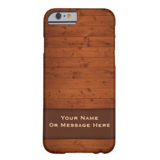 Vintage Houten iPhone 6 hoesje Barely There iPhone 6 Hoesje