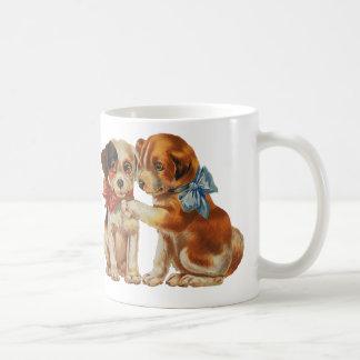 Vintage Huisdieren, het Puppy van de Kalverliefde Koffiemok