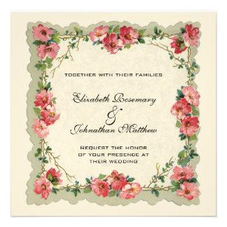Vintage Huwelijk de Bloemen Roze Rozen van de Gre
