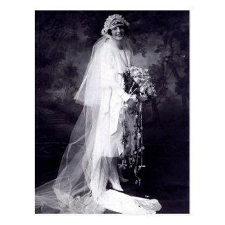 Vintage Huwelijk de Bruid Briefkaart
