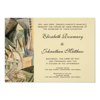 Vintage Huwelijk, de Kleuren van de Tonen van de 12,7x17,8 Uitnodiging Kaart