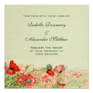 Vintage Huwelijk, de Rode BloemenWeide van de Kaart